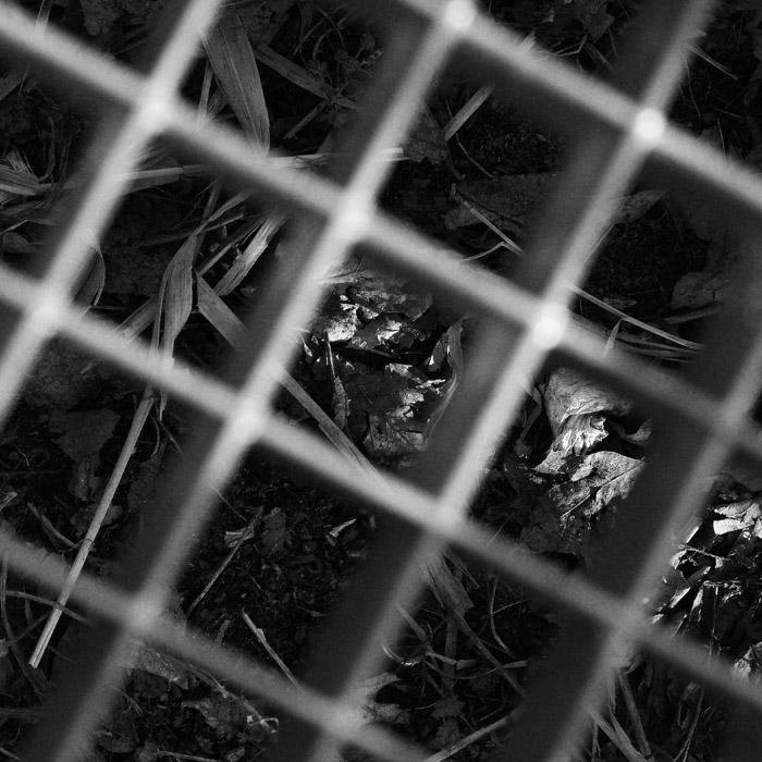 Boden hinter Gitter